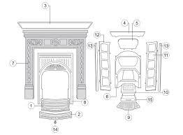 fireplace parts binhminh decoration