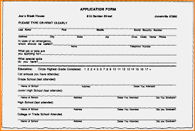 Inspiring Resumes Resume Resume Forms To Fill Out