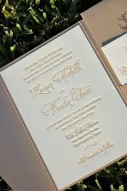 Monogram Wedding Invitations Fawn And Champagne Wedding Invitation Letterpress Wedding