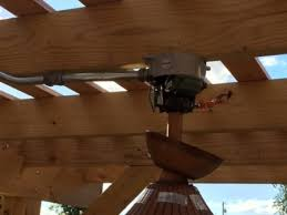 Pergola Ceiling Fan by Need Help Mounting Our New Outdoor Ceiling Fan Under Our Pergola