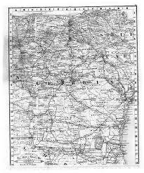 Georgia Counties Map Hargrett Library Rare Map Collection Transportation