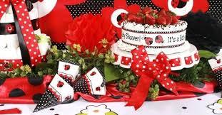ladybug baby shower ideas pink ladybug baby shower ideas by centerpiece decoration omega
