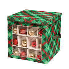 honey can do and green ornament storage box 40 ornaments sft