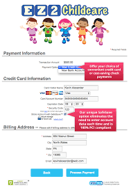 sample ez care2 online childcare forms ezcare childcare