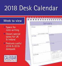 2018 easel desk calendar essential easel calendar 2018 calendar club uk