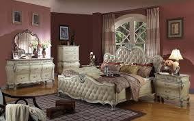 antoinette white leather bed traditional bedroom set w marble top