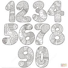 zentangle numbers set 0 9 coloring page free printable coloring