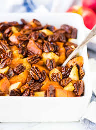 best thanksgiving side dish recipes glazed sweet potatoes with honey and pecans