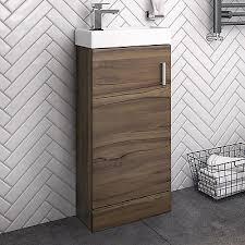 Slimline Vanity Units Bathroom Furniture by Walnut Bathroom Furniture Zeppy Io
