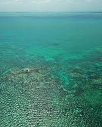 world u0027s second largest barrier reef in belize flying over
