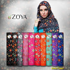 jilbab zoya zoya kerudung scarf maiko flower merty