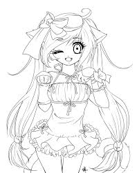 anime coloring pages coloringsuite com