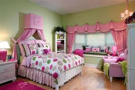 kids room bedroom design with purple nuance and cute colorful