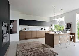 Black And White Modern Rug by Black White U0026 Wood Kitchens Ideas U0026 Inspiration