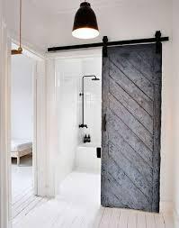 scandinavian bathroom with sliding door different types of