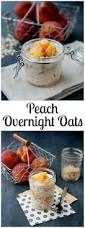peaches and cream overnight oats recipe