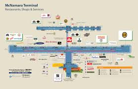 Washington Dc Airports Map by Detroit Airport Food Map Adriftskateshop