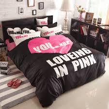 Victorias Secret Pink Comforter Pink And Black Bedroom Sets Home Design Ideas