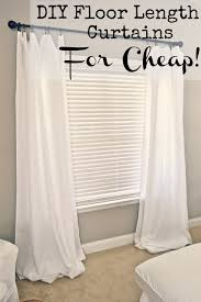 Length Curtains Diy Floor Length Curtains Liz