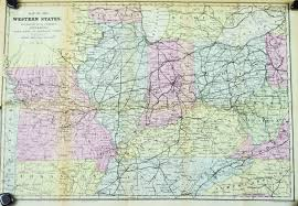 Map West Virginia by Ohio Kentucky West Virginia Illinois Missouri Tennessee Antique