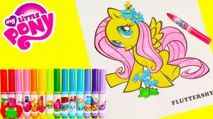 my little pony fluttershy coloring page crayola shopkins num nom