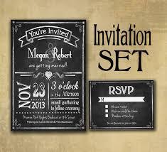 chalkboard wedding invitations chalkboard style wedding invitation set includes rsvp