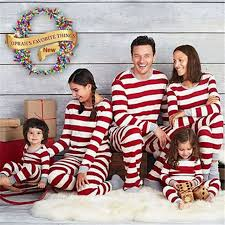 family matching clothes baby striped nightwear