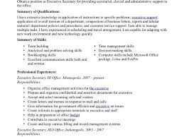 Executive Secretary Job Description Resume by Clerical Resume Skills Enwurf Csat Co