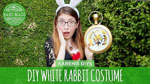 diy white rabbit costume from alice in wonderland hgtv handmade