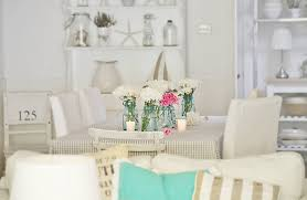 dining room tables flowers oh and lots of beach cottage white