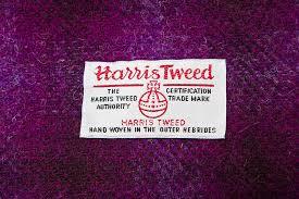 harris tweed throw by mannandmoon notonthehighstreet com