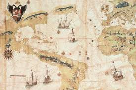 The Map Of America by The Map Of The World By Juan Vespucci Hispanic Society Of America