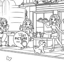 coloring lego friends kids drawing coloring pages