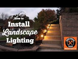 How To Install Landscape Lighting Installing Outdoor Landscape Lighting Easy By Home Repair