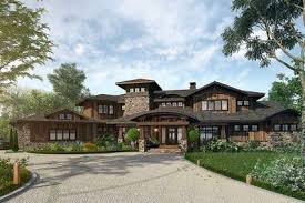 lodge house plans 4 bedroom mountain lodge house plan 12943kn architectural