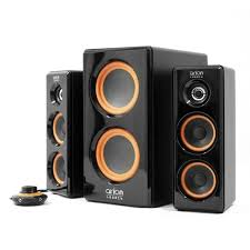 woofer for home theater amazon com arion legacy ac powered 2 1 speaker system with dual