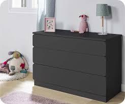 meuble commode chambre chambre enfant twist gris anthracite set de 3 meubles