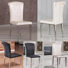 steel dining room chairs dining room leather and steel dining chairs cream leather high
