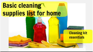 cleaning supplies essentials must have items in cleaning kit