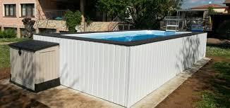 rivestimento in legno per piscine fuori terra piscine fuori terra con rivestimento personalizzato piscine da