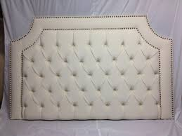 Nailhead Upholstered Headboard Bedroom Impressive Photo Of On Collection Ideas Tufted Headboard