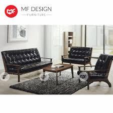 mf design mf design norman 1 2 3 without table antique sofa set pu black