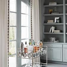 Built In Office Ideas Blue Gray Built In Office Shelves Design Ideas