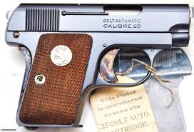 superb colt 1908 25 acp automatic pocket pistol w factory box