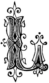 l ornamental letter clipart etc