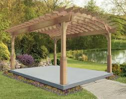red cedar arched garden free standing pergolas pergolas by style
