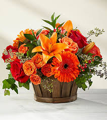 ftd harvest memories basket deluxe fall thanksgiving flowers