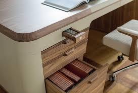 Modern Walnut Desk Flavio Modern Walnut And Leather Desk Shop Italy