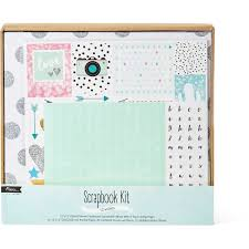 expandable scrapbook paper craft diy scrapbook kit large big w