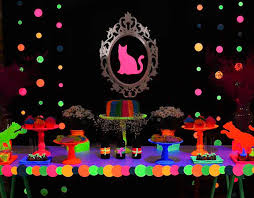 Neon Themed Decorations 21 Best My Party Images On Pinterest Fiesta Neon 15 Years And